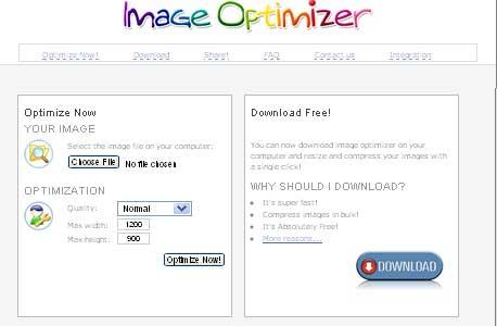 Preview of Image Optimizer