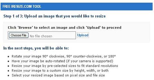 Preview of iResize image optimizer