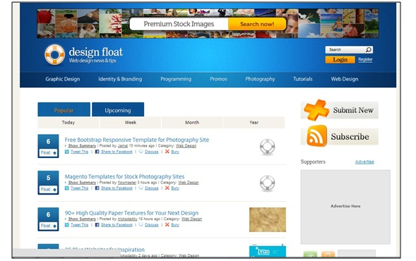 Design Float - Social Bookmarking Sites