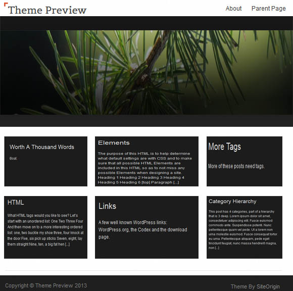 Free WordPress SnapShot Theme