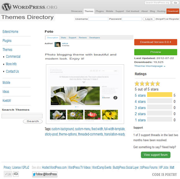 Free WordPress foto Theme