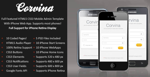 Corvina Mobile Template