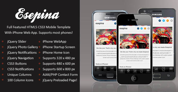 Esepina Mobile Template