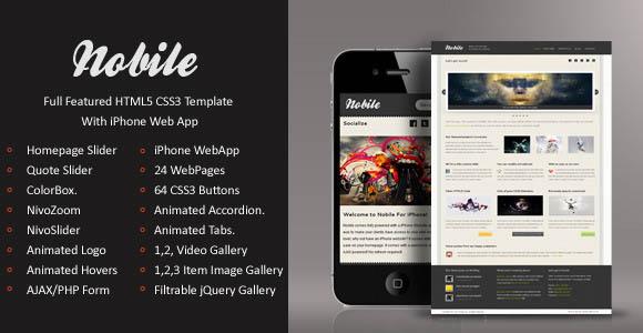 Nobile Mobile Template