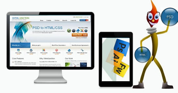 Responsive PSD to HTML Conversion