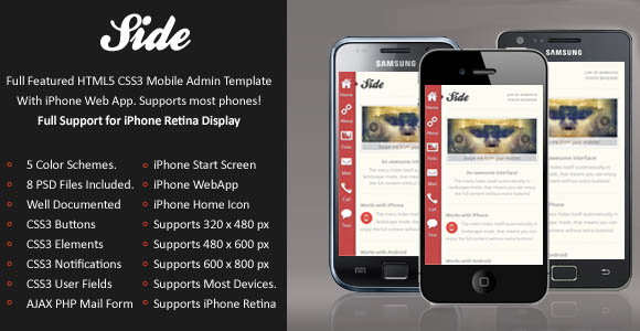 Side Mobile Retina Template