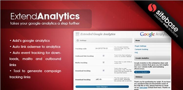 Extended Google Analytics - WordPress Plugin