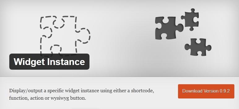 Widget Instance - Wprdpress Plugin