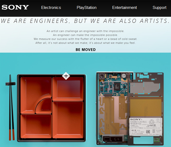 Sony- Parallax Website