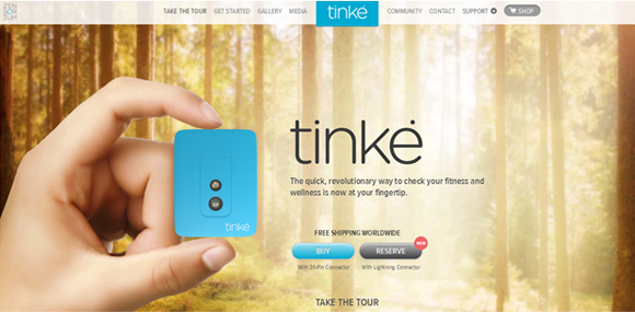tinke-parallax-scrolling-website