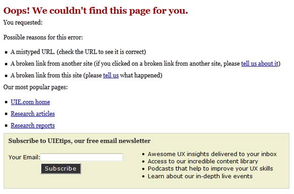 uie.com - 404 Error Page