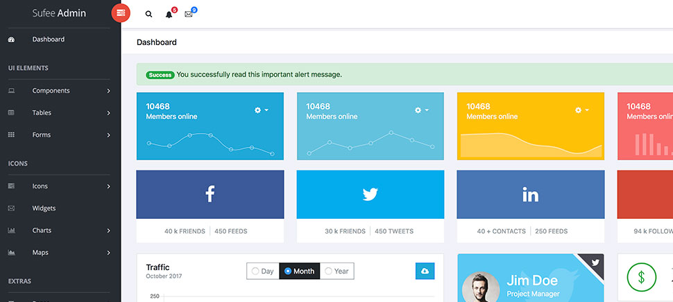 Sufee - Free Bootstrap Admin Template