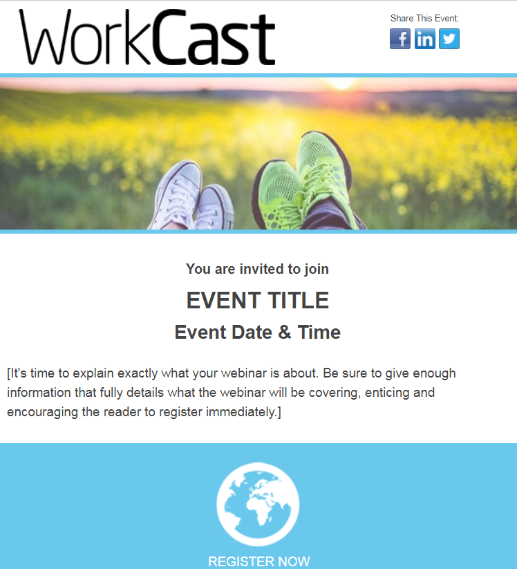 Webinar Invite - Responsive Email Template