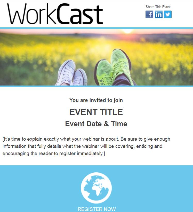 Webinar Invite - Responsive Email Template