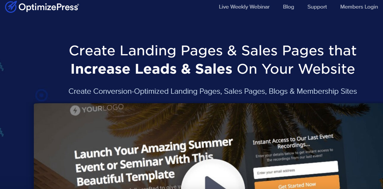 Optimizepress - WordPress Landing Page Plugin
