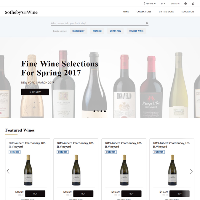 Sotheby's Wine - PSD to HTML - Xhtmljunction's client