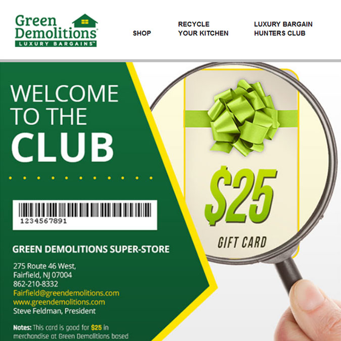 Green Demolitions - PSD to Responsive Newsletter - Xhtmljunction's client