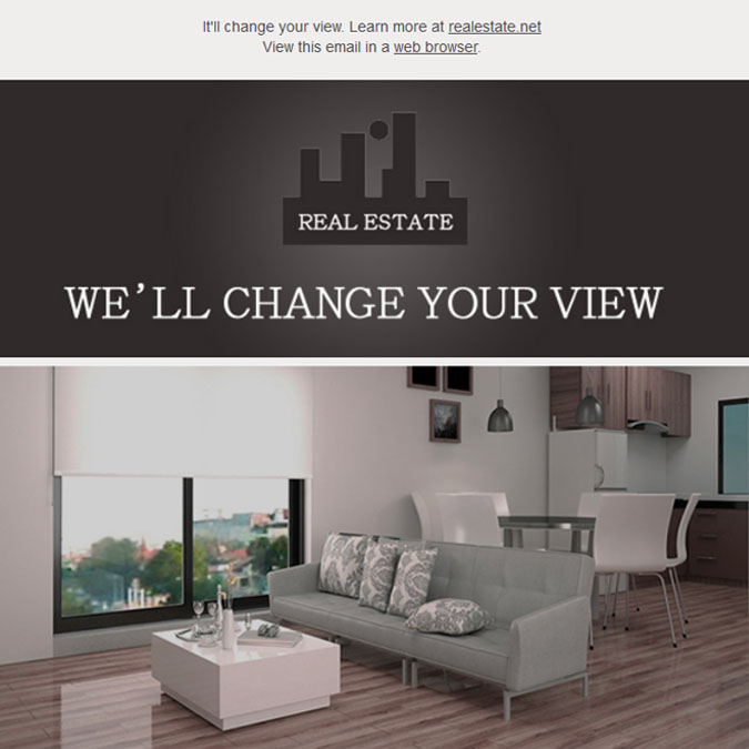 Real Estate - PSD to Responsive Newsletter - Xhtmljunction's client