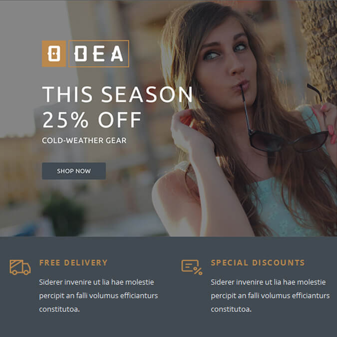ODEA - PSD to Responsive Newsletter - Xhtmljunction's client