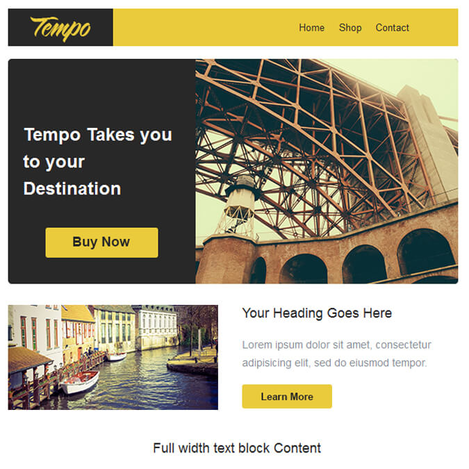 Tempo - PSD to Responsive Newsletter - Xhtmljunction's client