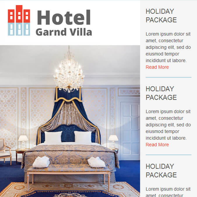 Hotel Grand Villa - PSD to Responsive Newsletter - Xhtmljunction's client