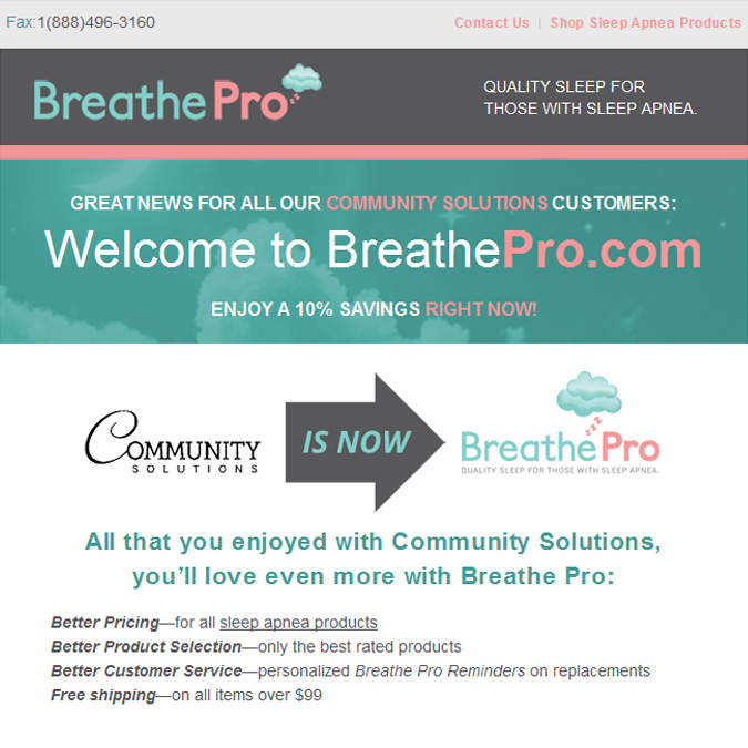 BreathePro - PSD to Responsive Newsletter - Xhtmljunction's client