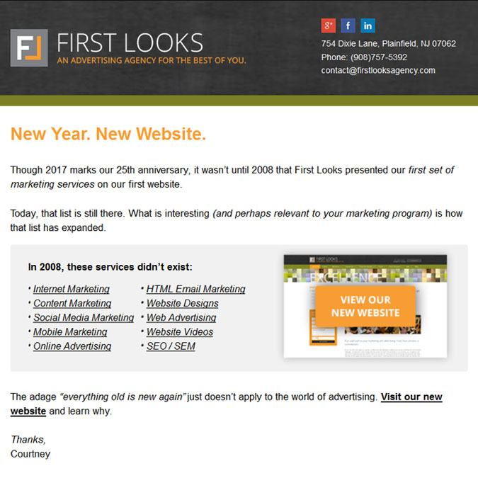 First looks - PSD to Responsive Newsletter - Xhtmljunction's client