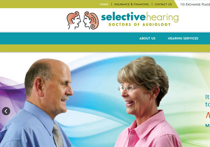 Selective Hearing - Existing Site to Responsive - Xhtmljunction's client