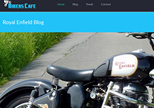 Royal Enfield Blog - PSD to HTML - Xhtmljunction's client